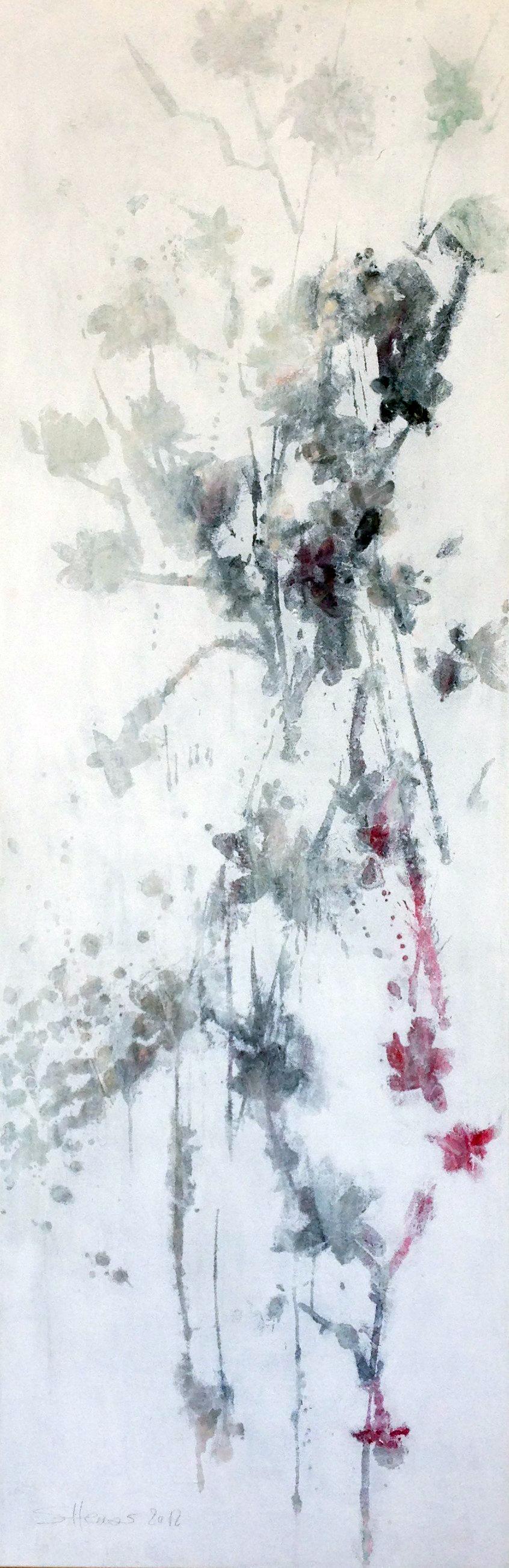 Blüten auf weiss von Sylvia Heuser
