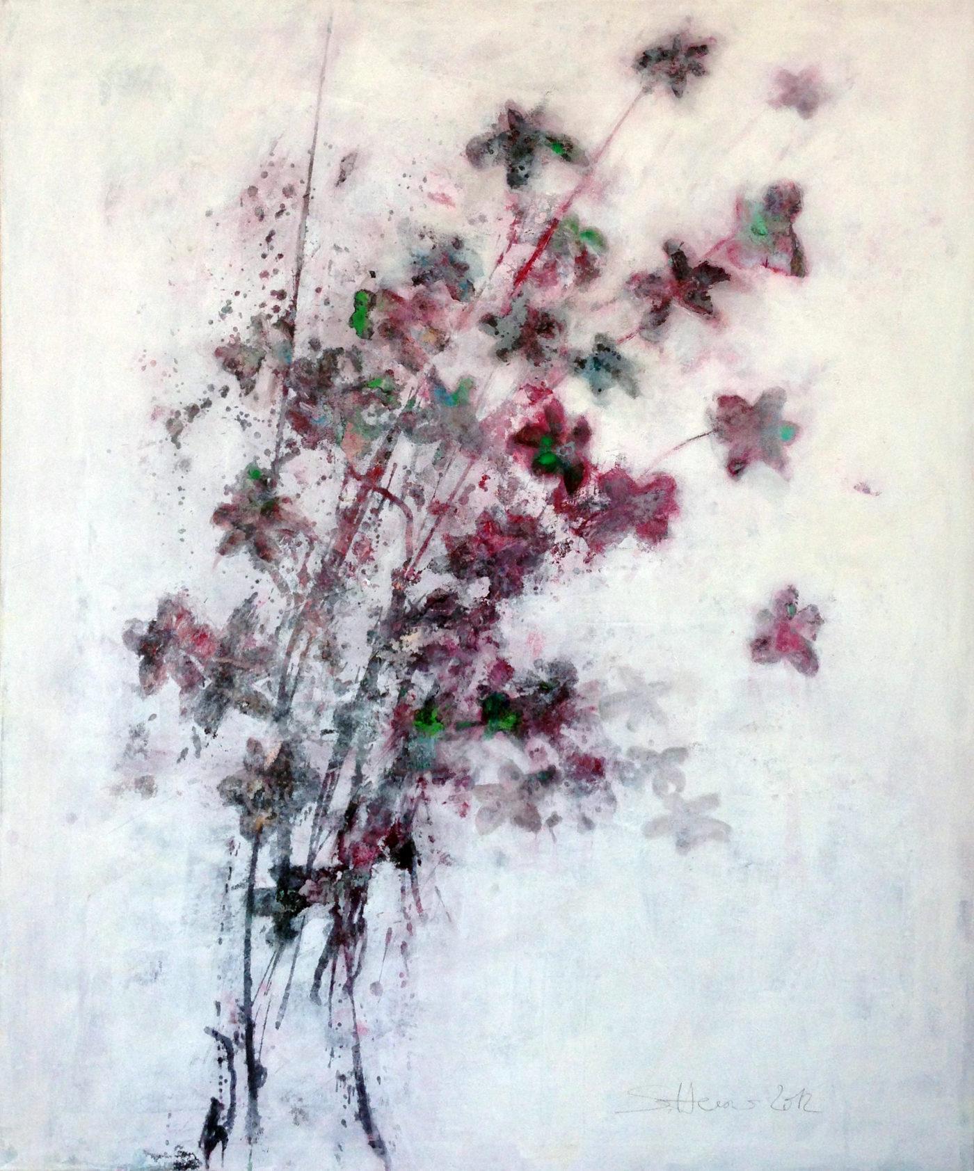Blüten auf weiss