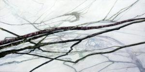"""""""Verzweigung 1"""", Acryl auf Leinen, 100x200 cm, 2016"""